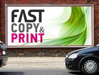 εκτύπωση μουσαμά σε ταμπέλα καταστήματος, για χρήση σαν πινακίδα για εφαρμογή σε μπαλκόνια ή τοίχους και εκτύπωση banner