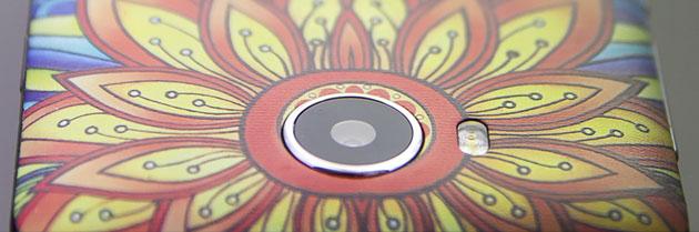 Λεπτομέρεια πλάτης κινητού με εκτύπωση